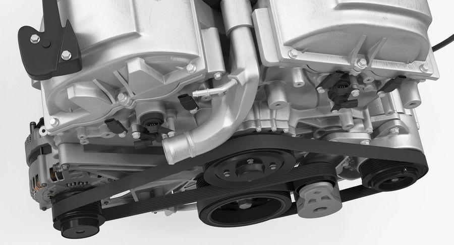 Car Engine royalty-free 3d model - Preview no. 16