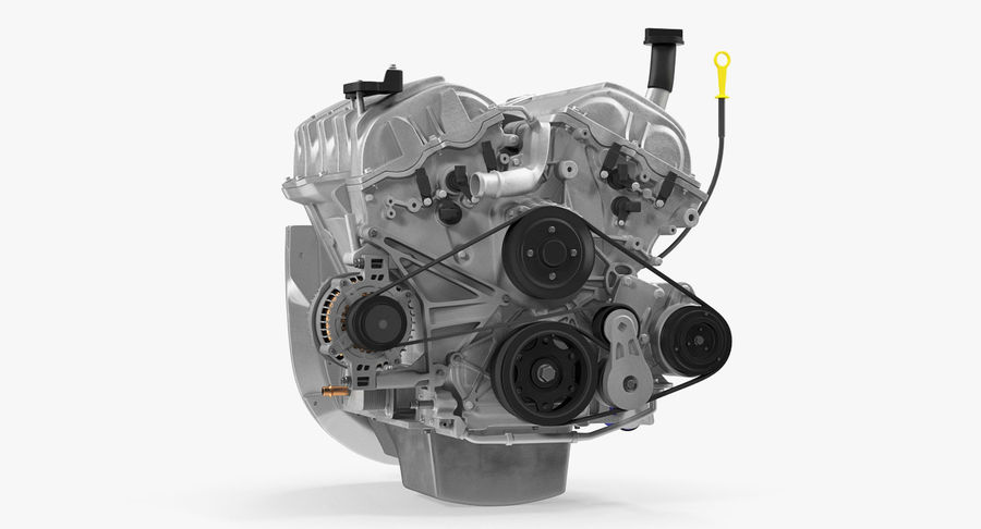 Car Engine royalty-free 3d model - Preview no. 11