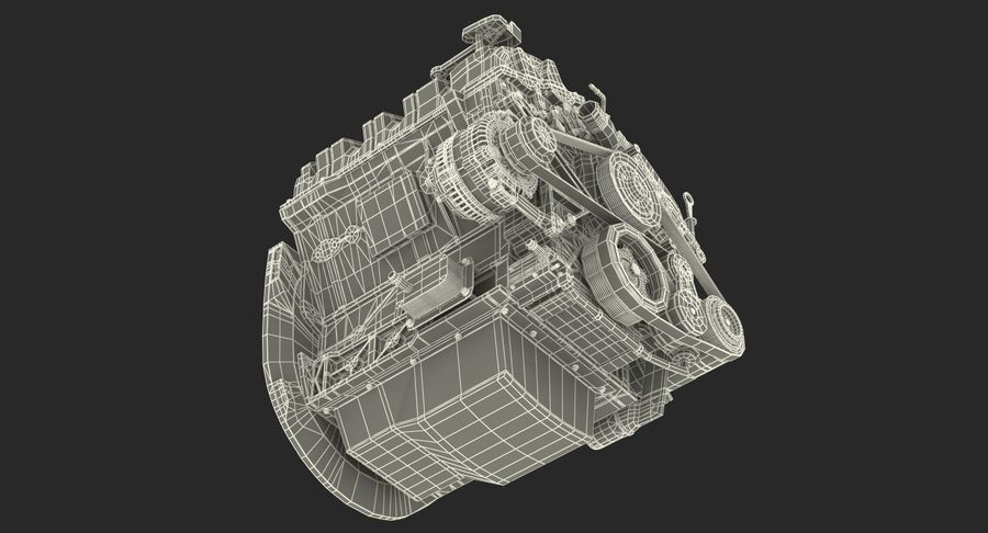 Car Engine royalty-free 3d model - Preview no. 29