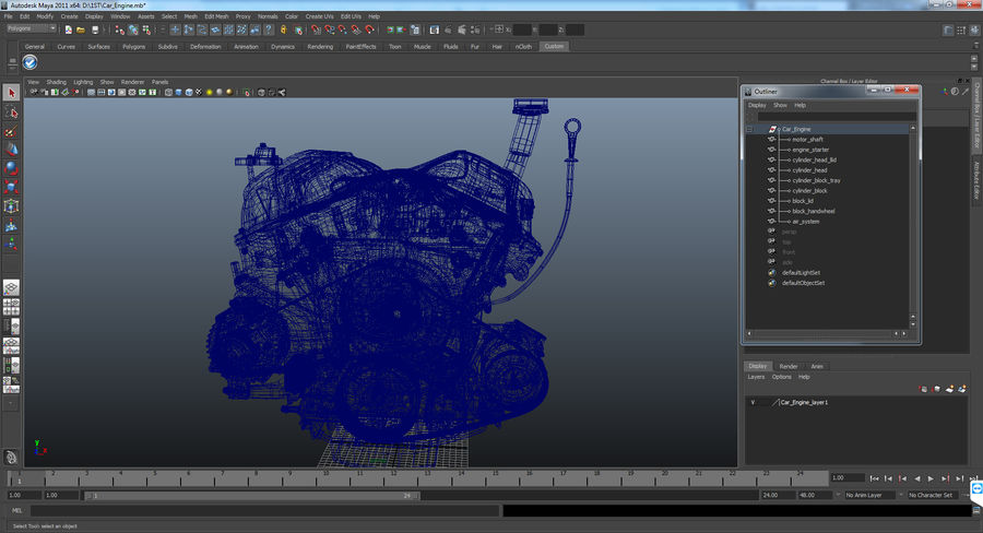 Car Engine royalty-free 3d model - Preview no. 26