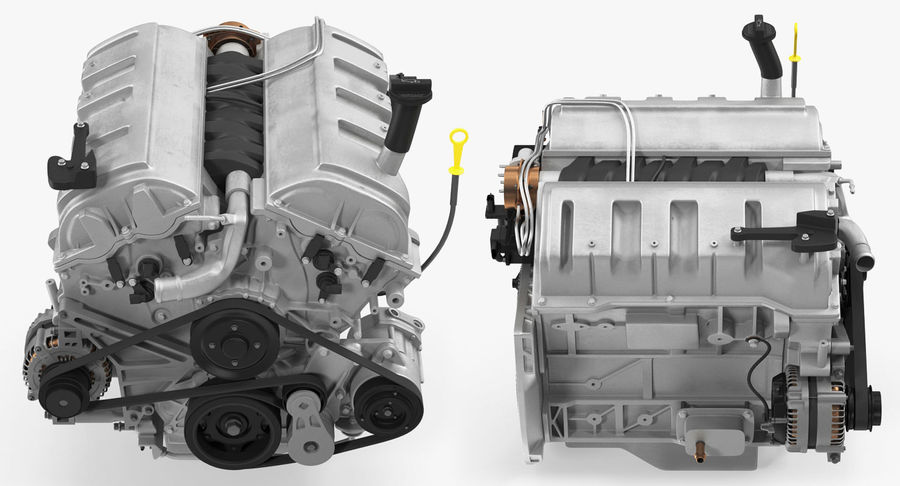 Car Engine royalty-free 3d model - Preview no. 6