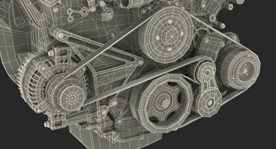 Car Engine royalty-free 3d model - Preview no. 31