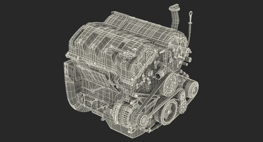 Car Engine royalty-free 3d model - Preview no. 28