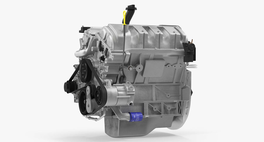 Car Engine royalty-free 3d model - Preview no. 10