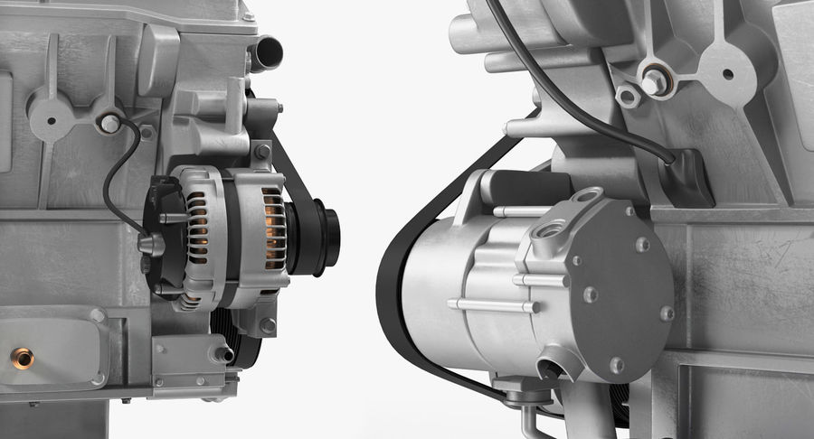 Car Engine royalty-free 3d model - Preview no. 19