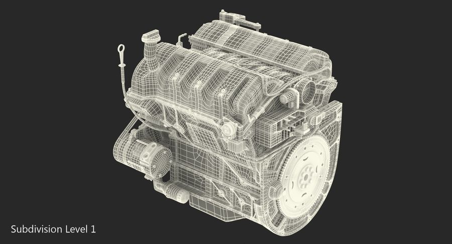 Car Engine royalty-free 3d model - Preview no. 22