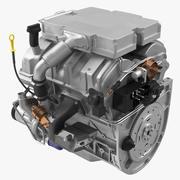 V6汽车引擎3.6升 3d model
