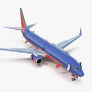 3D модель Boeing 737-900 ER Southwest Airlines с кабиной Rigged 3d model