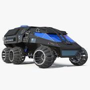 NASA Futurystyczny model łazika marsjańskiego Rigged Model 3D 3d model