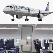 Airbus A321 Lufthansa İç Mekan 3d model