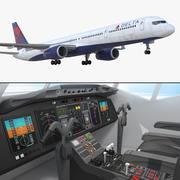 Boeing 757-300 Delta Kabinli 3d model