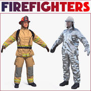 Firefighters 3D Models Collection 3d model