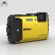 Nikon Coolpix AW130 Sarı 3d model