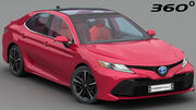Toyota Camry XLE 2018 (Complete model) 3d model