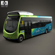 Arriva Milton Keynes Electric Bus 2014 3d model