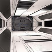 Couloir Sci Fi 02 3d model