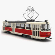 Tatra T3 Tram (not rigged) 3d model