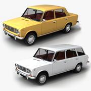 VAZ Lada 2101 + 2102 3d model