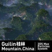 Guilin Mountain 3Dmax particles system 3d model