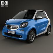 Smart Fortwo 2014年 3d model