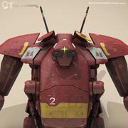 공상 과학 기계 3D 모델 3d model