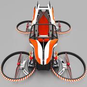 Quadcopter flying vehicle 3d model