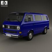 Volkswagen Transporter (T3) Passagerare 1990 3d model