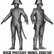 ナポレオン歩兵HIGH POLY 3d model