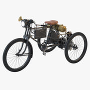1900 Peugeot Trike Motorcykel 3d model