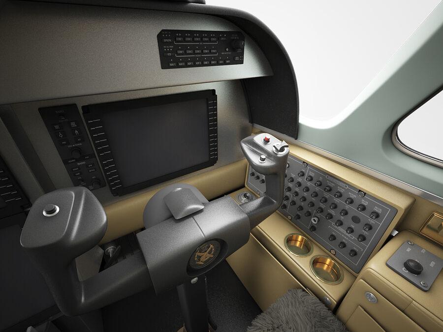 Cockpit d'avion royalty-free 3d model - Preview no. 5