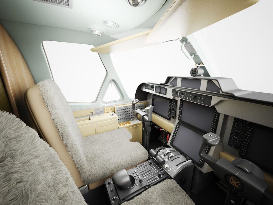 Cockpit d'avion royalty-free 3d model - Preview no. 2