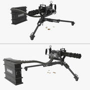 M134 Minigun Tripod Mounted and Ammo Crate Collection 3d model