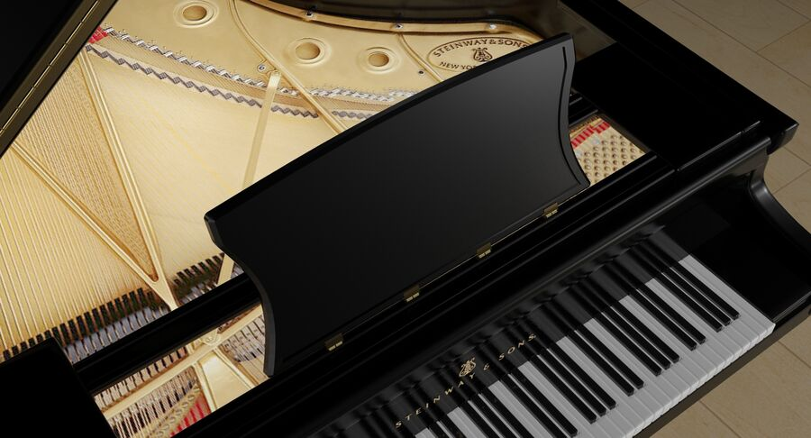 Piano Steinway Concert Grand Model D royalty-free 3d model - Preview no. 17