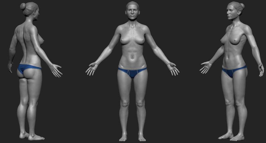 Kadın Taban Mesh royalty-free 3d model - Preview no. 1