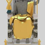 제우스 동상 3d model
