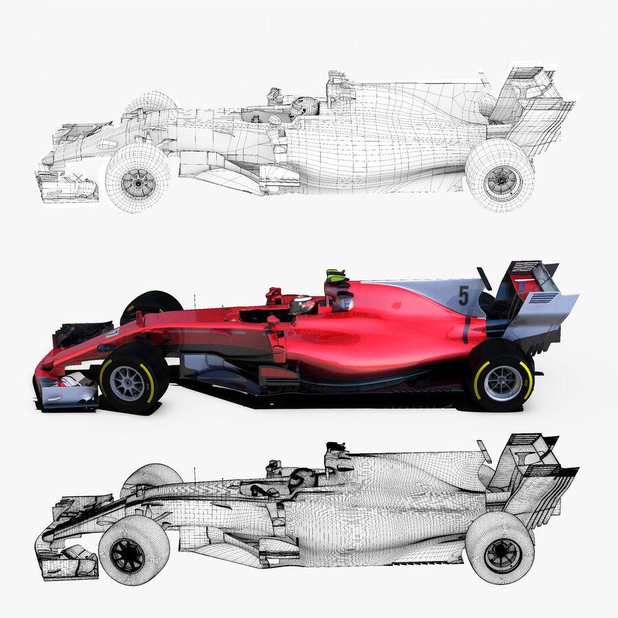 Formule 1 auto 2017 royalty-free 3d model - Preview no. 2
