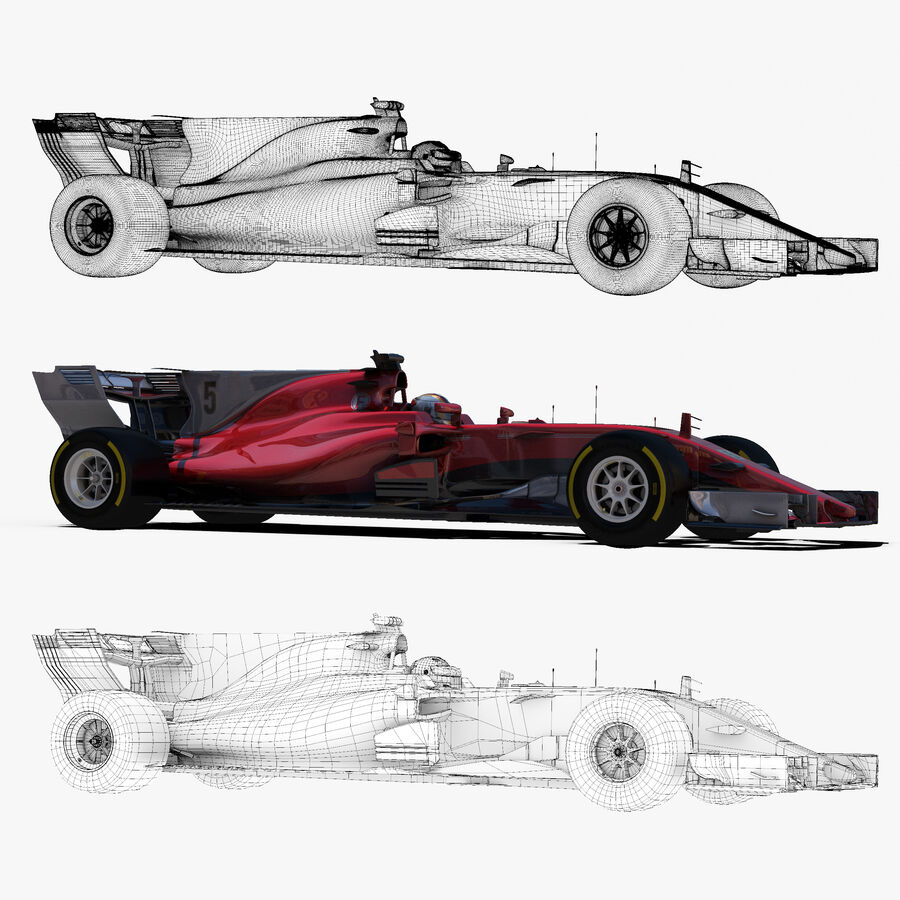 Formel 1 2017 bil royalty-free 3d model - Preview no. 10