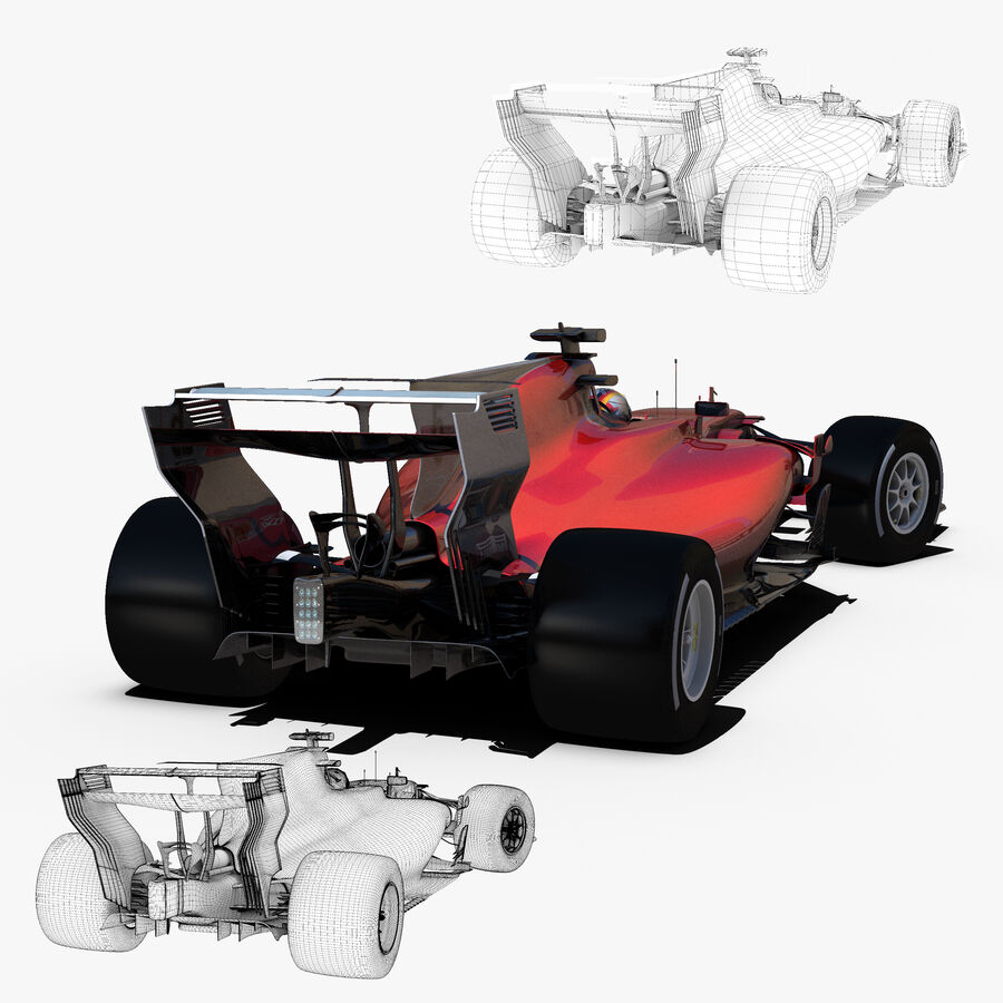 Formule 1 auto 2017 royalty-free 3d model - Preview no. 7
