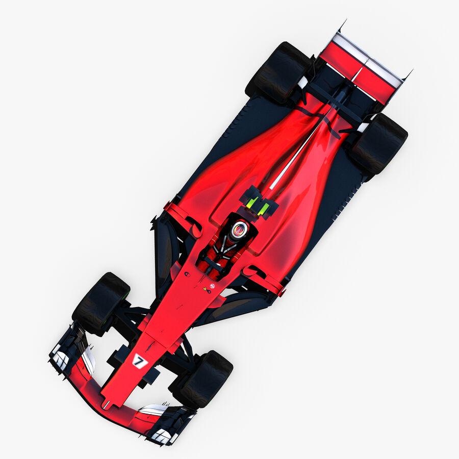 Formule 1 auto 2017 royalty-free 3d model - Preview no. 4