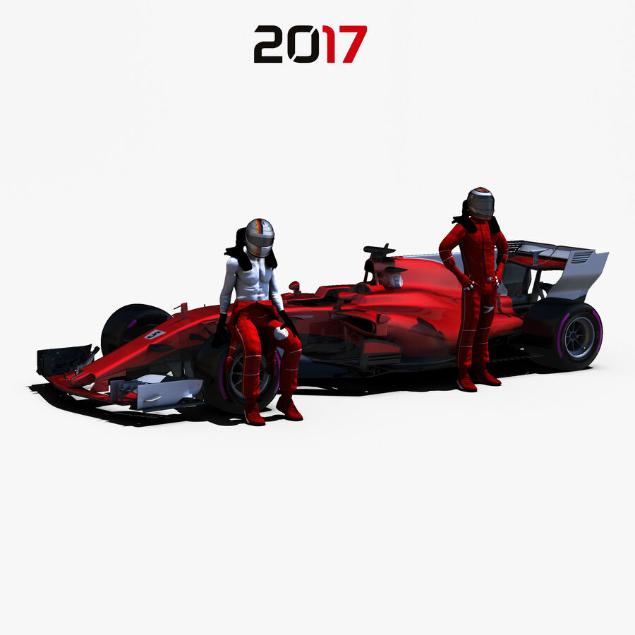 Formel 1 2017 bil royalty-free 3d model - Preview no. 1