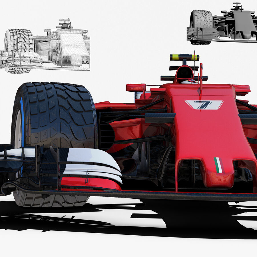 Formule 1 auto 2017 royalty-free 3d model - Preview no. 8