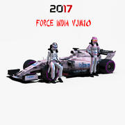 Force India VJM10 3d model