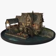 Mulino ad acqua 3d model