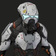Alien Cyborg 3d model