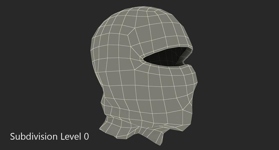 Balaclava Ski Face Mask royalty-free 3d model - Preview no. 7