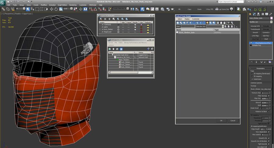 Balaclava Ski Face Mask royalty-free 3d model - Preview no. 13