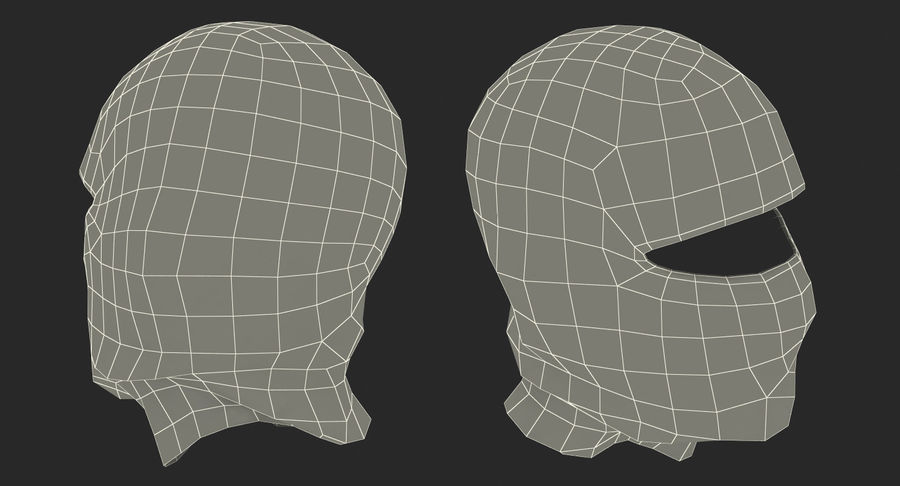 Balaclava Ski Face Mask royalty-free 3d model - Preview no. 15