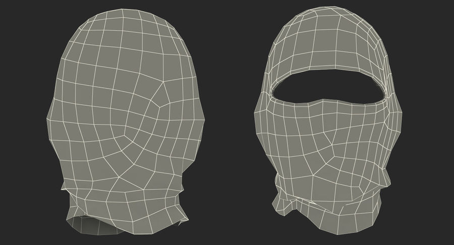 Balaclava Ski Face Mask royalty-free 3d model - Preview no. 14