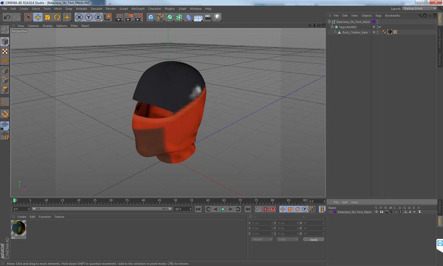 Balaclava Ski Face Mask royalty-free 3d model - Preview no. 12