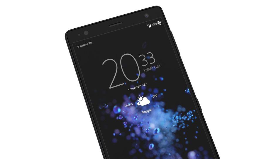 索尼Xperia XZ2液体黑色 royalty-free 3d model - Preview no. 9